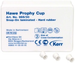 Prophy-Cups Gummi hård Snap-On 30st