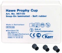 Prophy-Cups Gummi mjuk Snap-On 30st