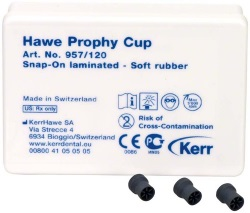 Prophy-Cups Gummi mjuk Snap-On 120st
