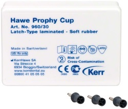 Prophy-Cups Gummi mjuk Latch-Type 30st