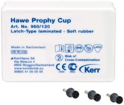 Prophy-Cups Gummi mjuk. Latch-Type 120st