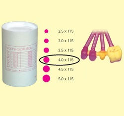 Bredent Wax Pattern Sticks 4x115mm 250gr