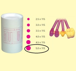 Bredent Wax pattern sticks 5x115mm 250gr
