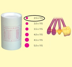 Bredent Wax Pattern Sticks 2,5x115mm 250gr