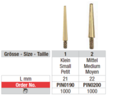 Edenta Dowel Pins medium PIN0200, 1000 st